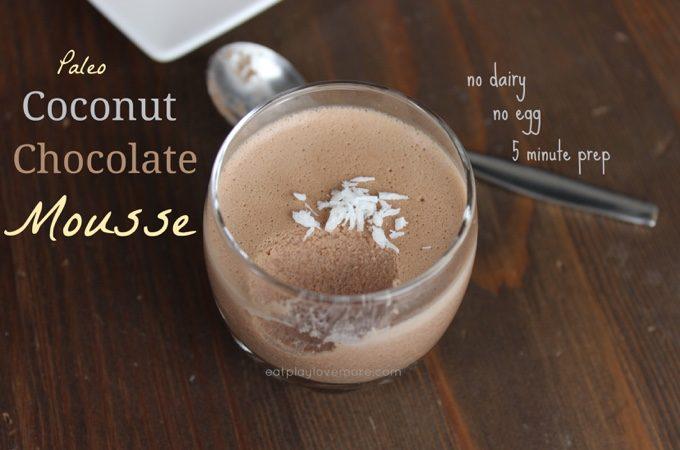 Paleo Coconut Chocolate Mouse (No Egg, No Dairy)